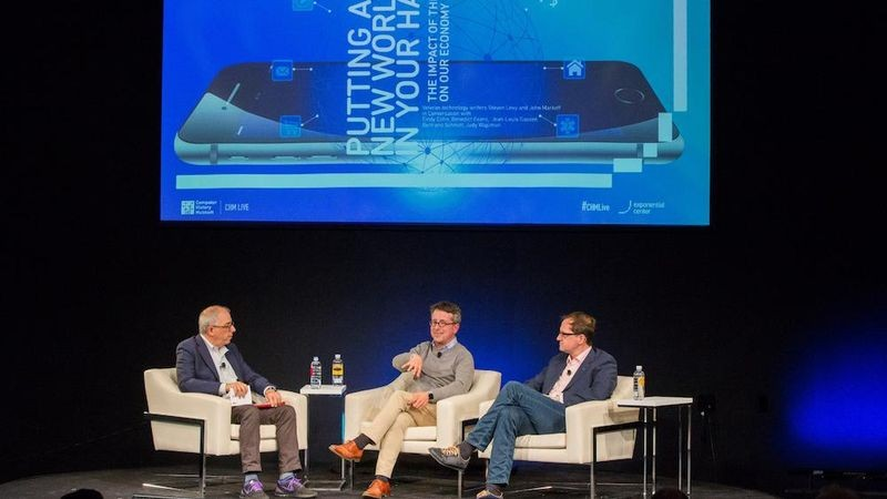 Influential tech writer Steven Levy discusses the impact of the iPhone on the economy and business with Benedict Evans, partner at Andreessen Horowitz, and Bertrand Schmitt, CEO and cofounder of App Annie, October 18, 2017. Produced by the Exponential Center at the Computer History Museum.