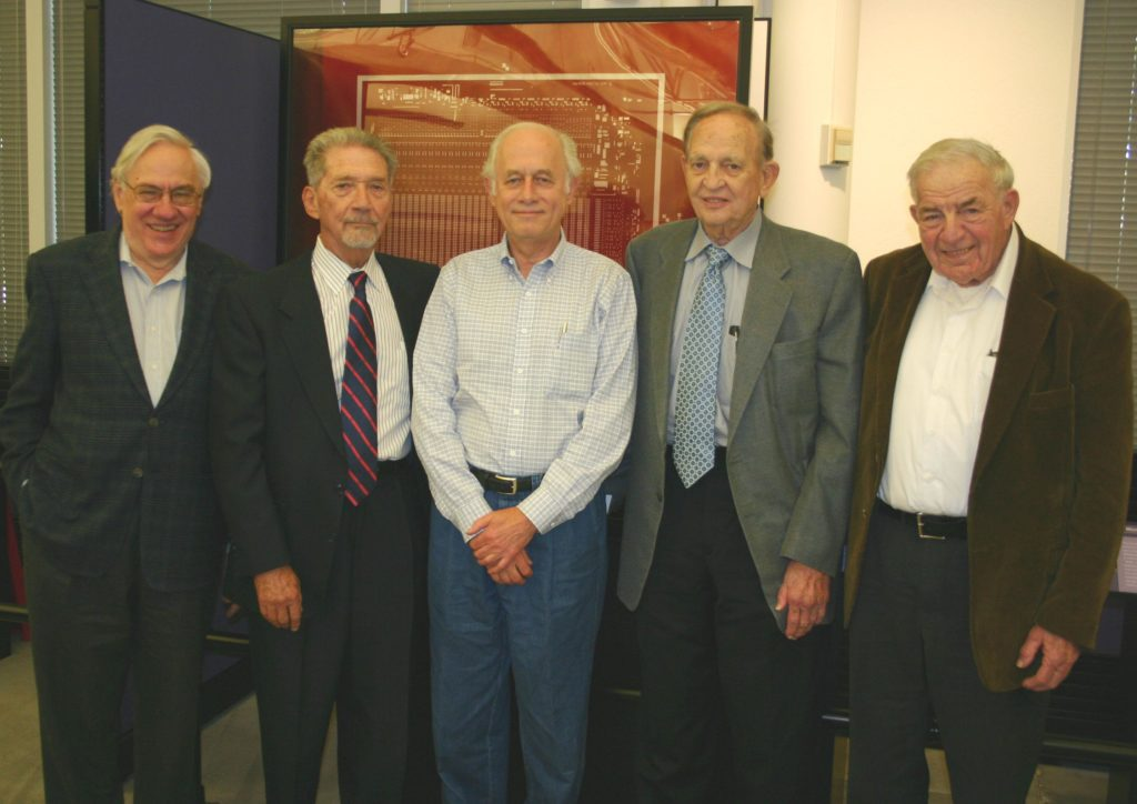 Jay Last, Isy Haas, the author, Lionel Kattner, Bob Norman in 2007. Photo: David A. Laws