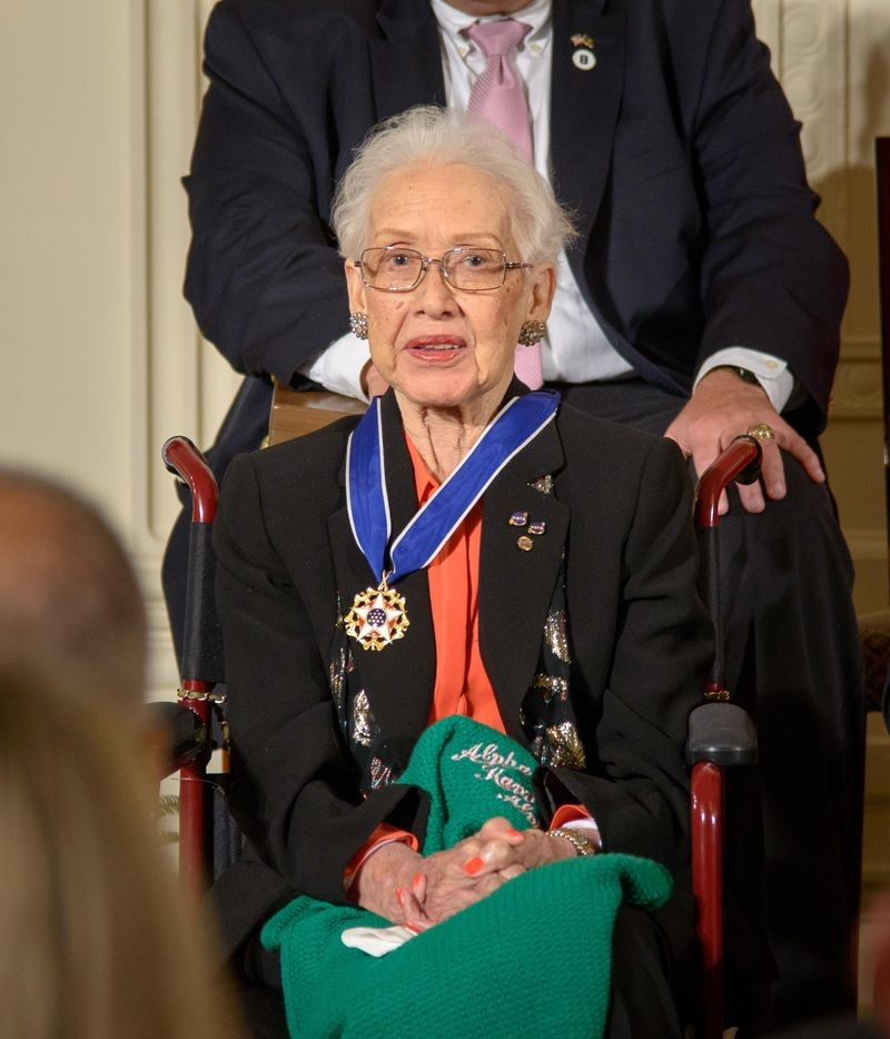 Katherine Johnson receives Presidential Medal of Freedom in 2015. Image: NASA.